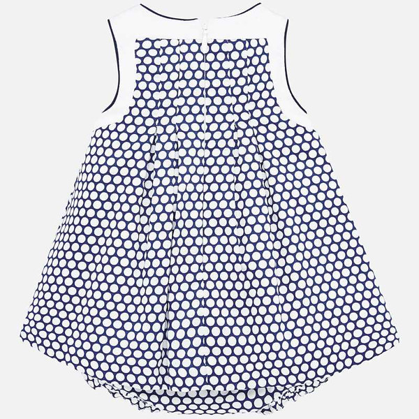 Navy & White Dot Dress