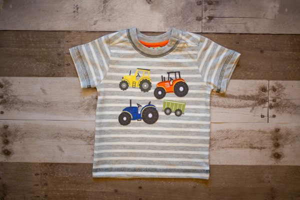 Grey Striped Tractor