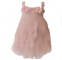 Peach Tank Style  w/ large bow on sequins bodice