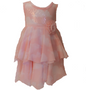 Chiffon Peach tie dye w/ sequin bodice