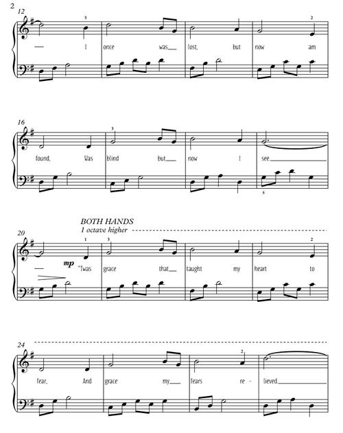 Amazing Grace (free easy piano solo)