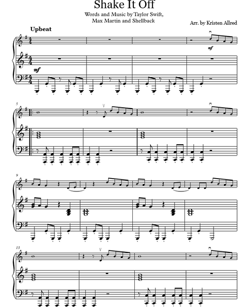 Shake It Off (Violin and Piano Duet)