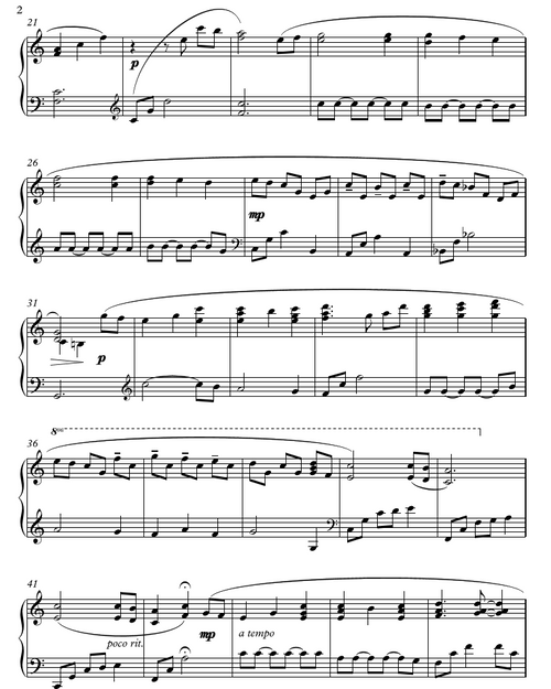 A Poor Wayfaring Man of Grief (Intermediate Piano Solo)