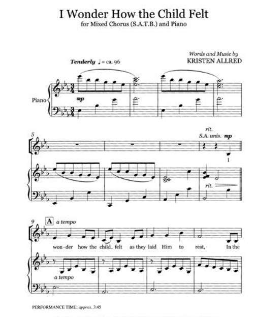 I Wonder How the Child Felt (SATB) Christmas Sheet Music