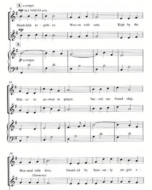 Hearts Knit Together (SSA) - Choral Sheet Music