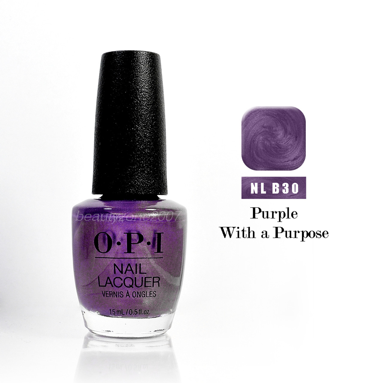 OPI Nail Polish B30 Purple With A Purpose 0.5oz - BeautyChain
