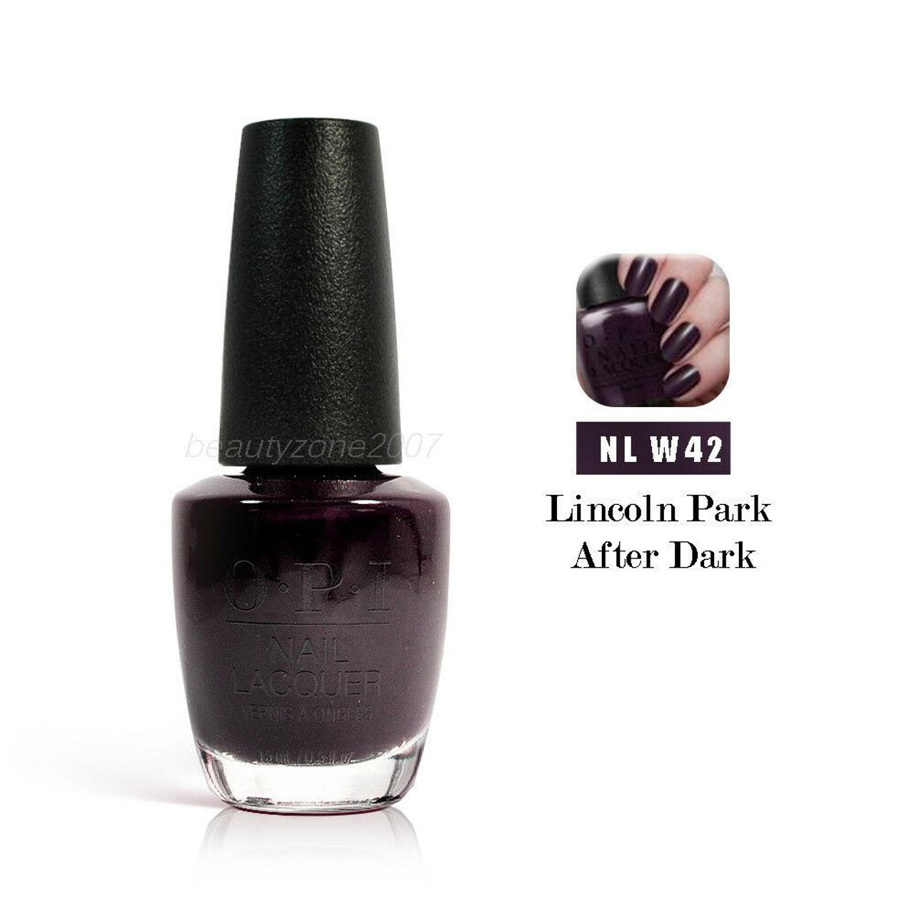OPI Nail Polish W42 Lincoln Park After Dark 0.5oz - BeautyChain