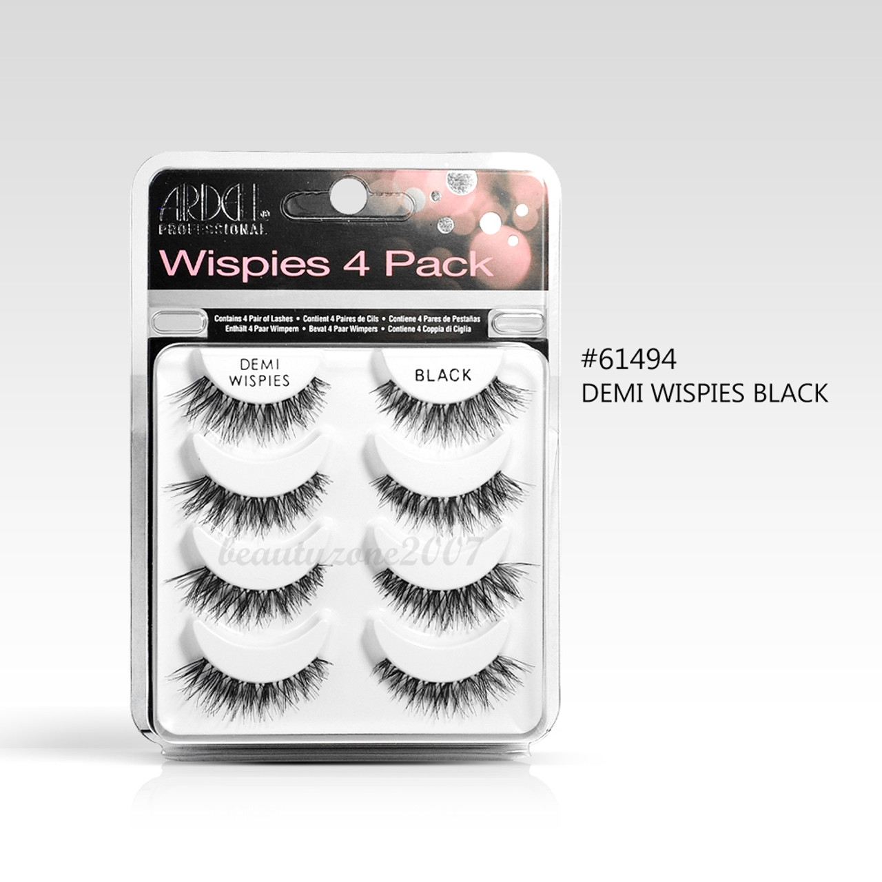354c87c347e Ardell Multipack Demi Wispies Fake Eyelashes 4 Pairs - Black #61494 ...