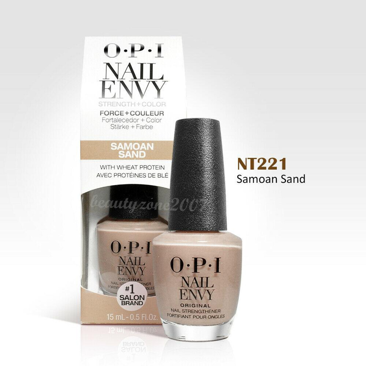 OPI Nail Polish Nail Envy Treatment + Color NT221 Samoan Sand 0.46oz ...
