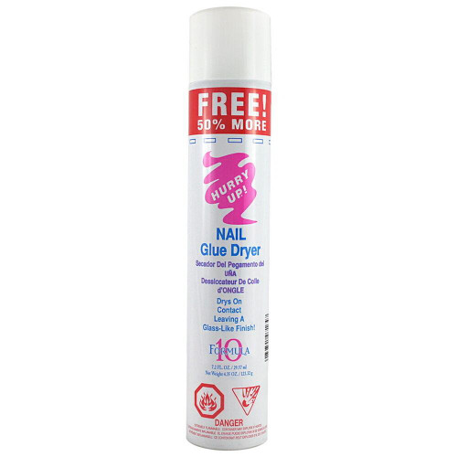 Hurry Up GLUE SPRAY ACTIVATOR Nail Glue Dryer 7.2 oz