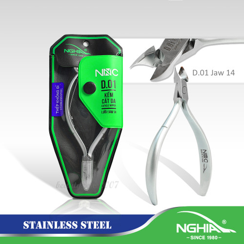 Nghia Stainless Steel Cuticle Nippers D-01 Jaw 14