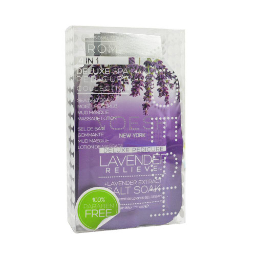 2 x VOESH Pedicure Spa Set 4-in-1 Lavender Salt Scrub Masque Massage Lotion
