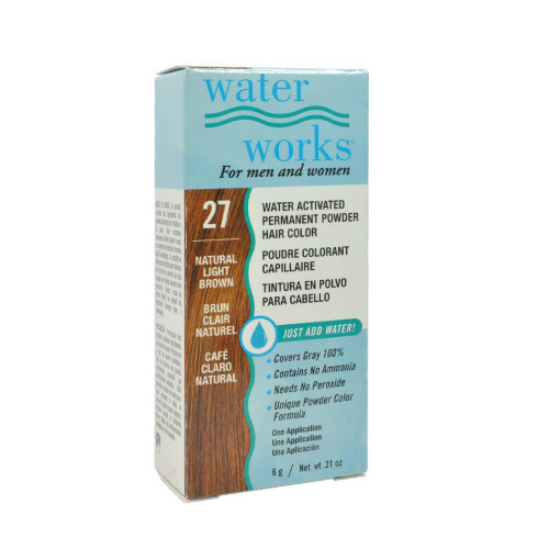 Water Works Permanent Powder Hair Color #27 - Natural Light Brown 0.21oz