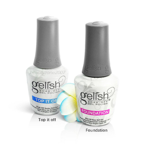 Harmony Gelish Dynamic Duo Pack Soak Off Top It Off & Foundation Base Coat 0.5oz