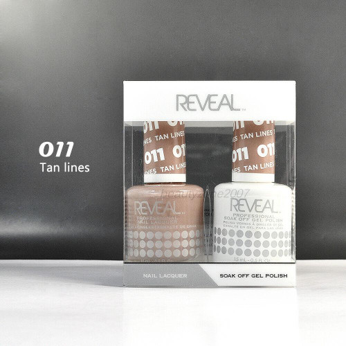 Reveal Gel Polish & Nail Lacquer Matching Duo #011 Tan Lines
