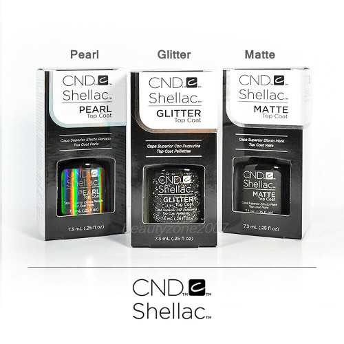CND Shellac The Top Coat Collection - Matte Glitter & Pearl