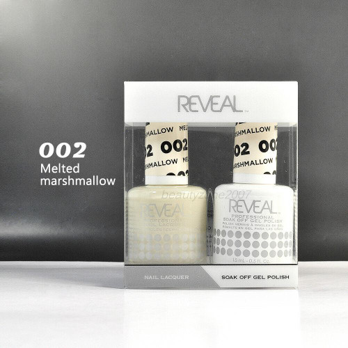 Reveal Gel Polish & Nail Lacquer Matching Duo #002 Melted Marshmallow