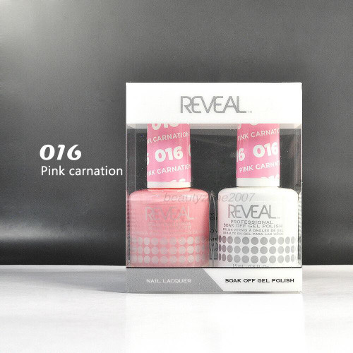 Reveal Gel Polish & Nail Lacquer Matching Duo #016 Pink Carnation 1