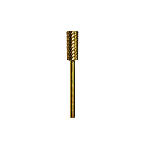 "Acrylic Nail Drill Bit 3/32"" Two Way Cut - Gold Small Barrel Medium"