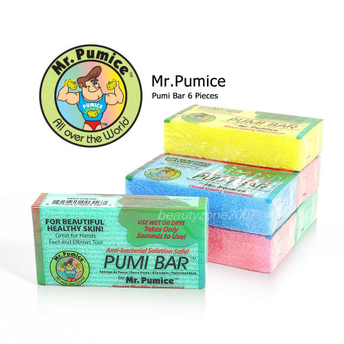 6 Bar Mr. Pumice Pumi Bar for Pedicure