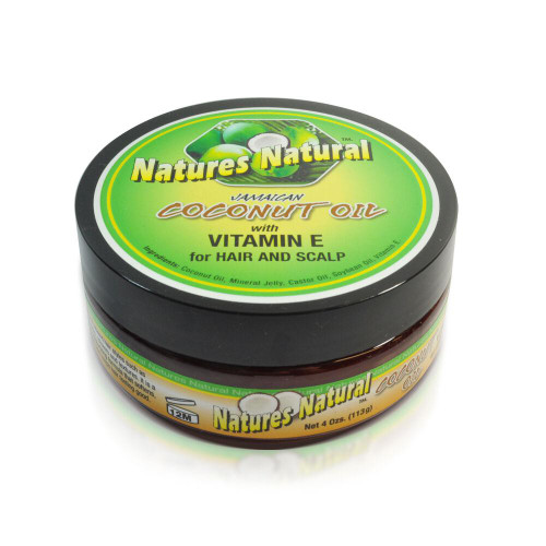 Natures Natural Jamaican Cocoa Oil With Vitamin E For Hair and Scalp 4oz
