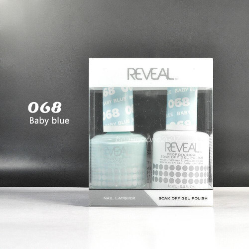 Reveal Gel Polish & Nail Lacquer Matching Duo #068 - Baby Blue