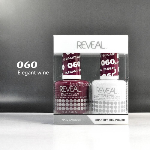 Reveal Gel Polish & Nail Lacquer Matching Duo #060 - Elegant Wine