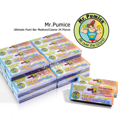 24 Pieces Mr. Pumice Ultimate Pumi Bar Medium/Coarse
