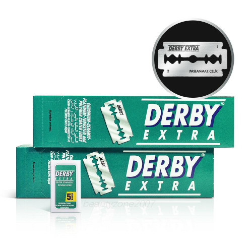 Derby Extra Double Edge Razor Blades 100 Count x 2 Pack