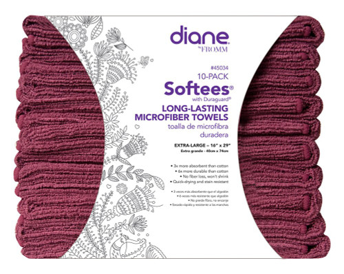 Diane #45034 Softees with Duraguard - Dark Red x 10 Pack