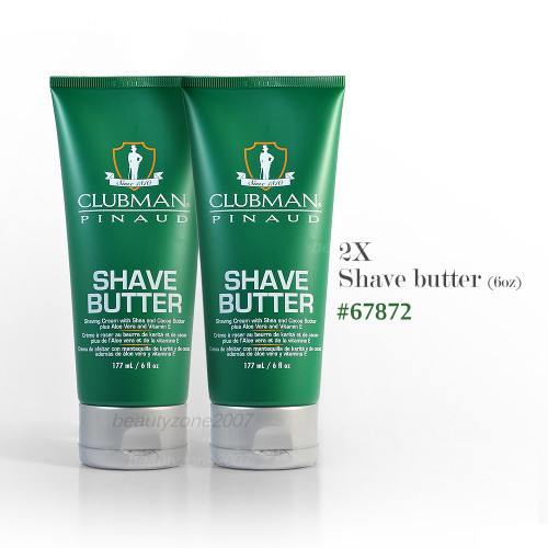 Clubman Pinuad Shave Butter Cream 6oz (Pack of 2)