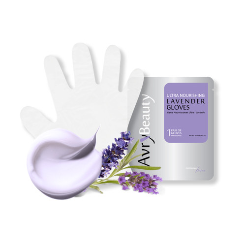 AvryBeauty Moisturizing Waterless Manicure Gloves - Lavender 1 Pair