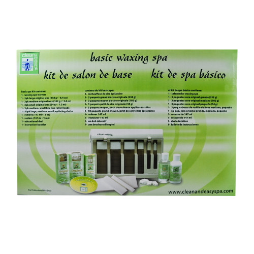 Clean + Easy Professional Waxing Spa Basic Kit