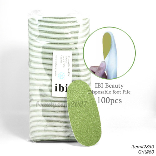 iBi Disposable Green Foot File Pad 60 Grit Extra Coarse - 100pcs