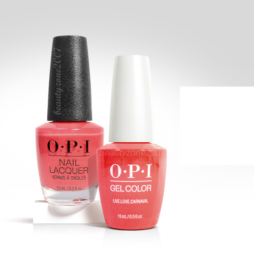 OPI Matching GelColor + Nail Polish - A69 Live. Love. Carnaval 0.5oz