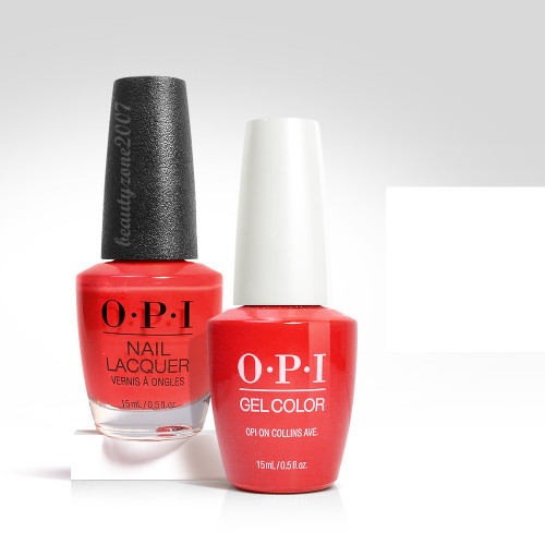 OPI Matching GelColor + Nail Polish - B76 Opi On Collins Ave 0.5oz