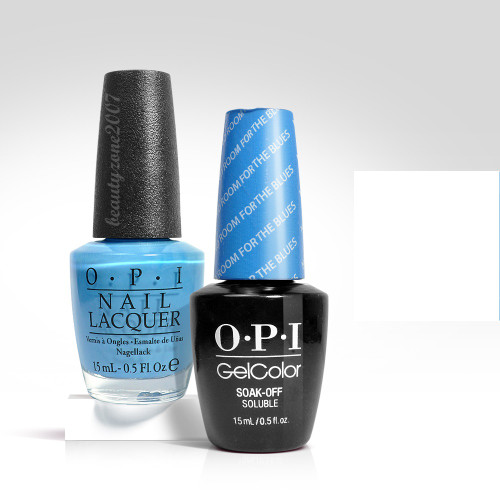 OPI Matching GelColor + Nail Polish - B83 No Room for the Blues 0.5oz