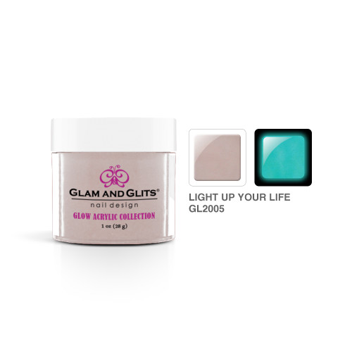 Glam and Glits Acrylic Glow In The Dark Nail Powder GL2005 Light Up Your Life 1oz