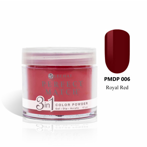 LeChat Perfect Match 3 in 1 Color Powder PMDP006 - Royal Red 1.5oz