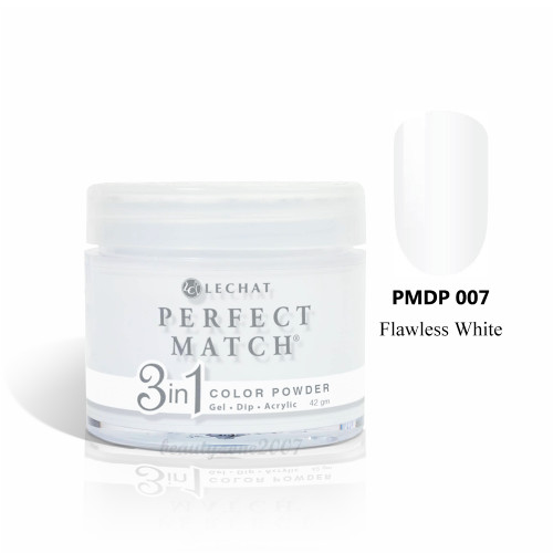 LeChat Perfect Match 3 in 1 Color Powder PMDP007 - Flawless White 1.5oz