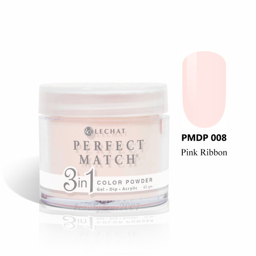 LeChat Perfect Match 3 in 1 Color Powder PMDP008 - Pink Ribbon 1.5oz