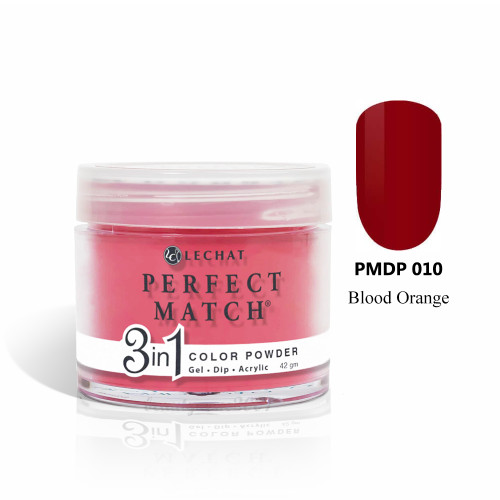LeChat Perfect Match 3 in 1 Color Powder PMDP010 - Blood Orange 1.5oz
