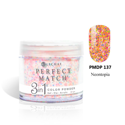 LeChat Perfect Match 3 in 1 Color Powder PMDP137 - Neontopia 1.5oz