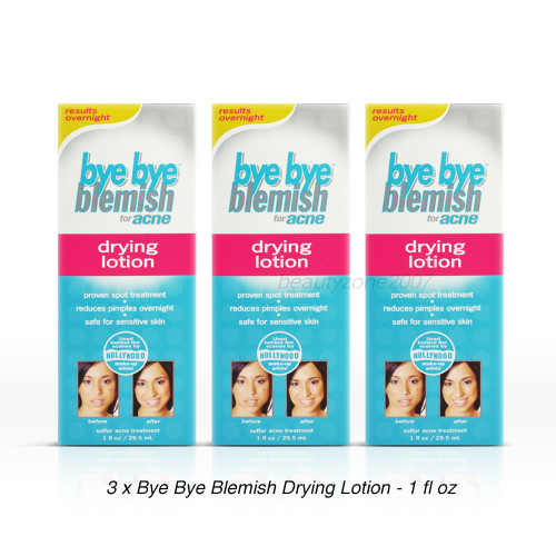 Bye Bye Blemish Drying Lotion for Acne - 1 fl oz ( Pack of 3)
