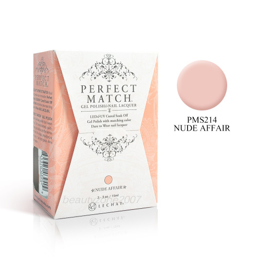 LeChat Perfect Match UV Gel + Nail Polish - PMS214 Nude Affair 0.5oz