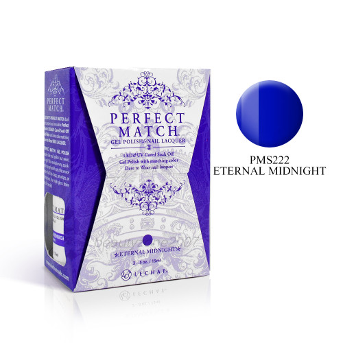 LeChat Perfect Match UV Gel + Nail Polish - PMS222 Eternal Midnight 0.5oz