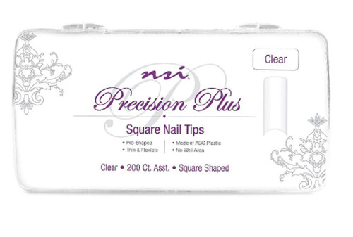 nsi Precision Plus Clear Nail Tips 200 Ct