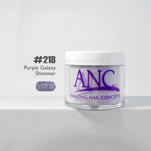 ANC Nail Color Dipping Powder #218 Purple Galaxy Shimmer 2oz