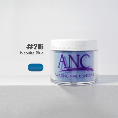 ANC Nail Color Dipping Powder #216 Nebulas Blue 2oz
