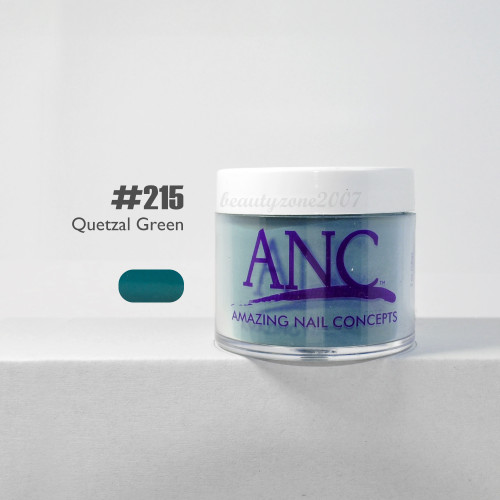 ANC Nail Color Dipping Powder #215 Quetzal Green 2oz